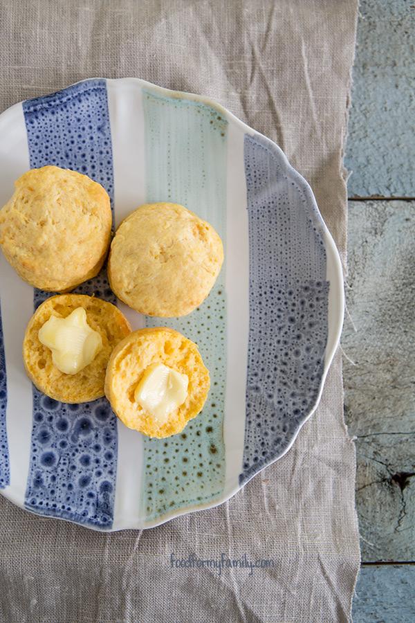 Honey Sweet Potato Biscuits #recipe via FoodforMyFamily.com