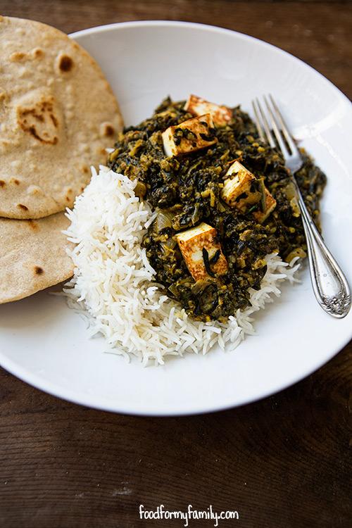 Paneer Saag Recipe via FoodforMyFamily.com