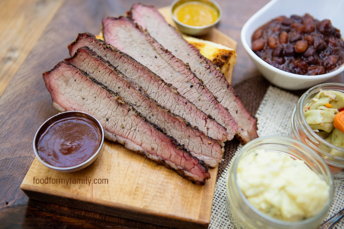Smoked Beef Brisket #recipe via FoodforMyFamily.com