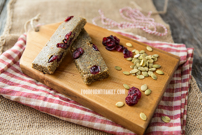 5-Ingredient Energy Bars #recipe via FoodforMyFamily.com