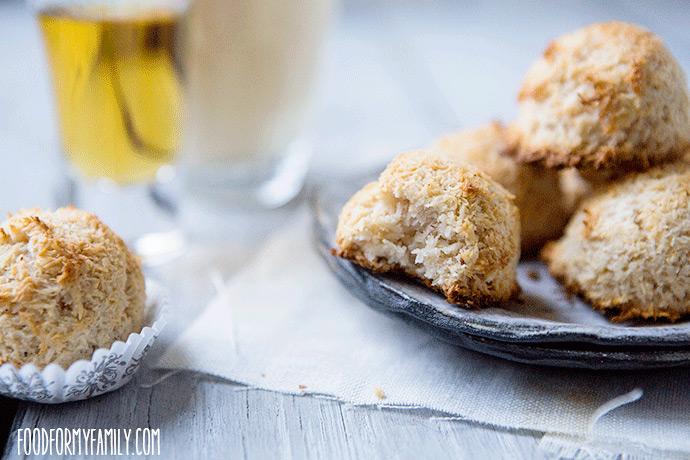 Eggnog Coconut Macaroon #Cookie #Recipe via FoodforMyFamily.com