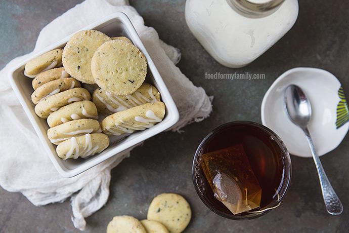 Orange and Black Tea Olive Oil Shortbread #cookie #recipe via FoodforMyFamily.com