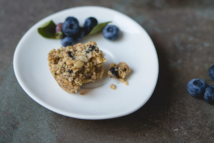 Blueberry Oat Granola Bites Recipe via FoodforMyFamily.com