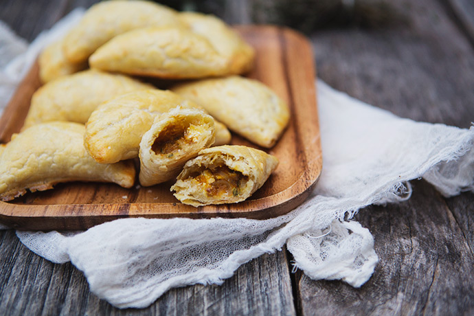 Squash Empanadas with Caramelized Shallots and Goat Cheese recipe | FoodforMyFamily.com