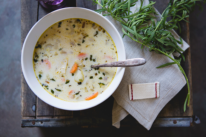 Creamy Tarragon Chicken Gnocchi Soup Recipe | via FoodforMyFamily.com