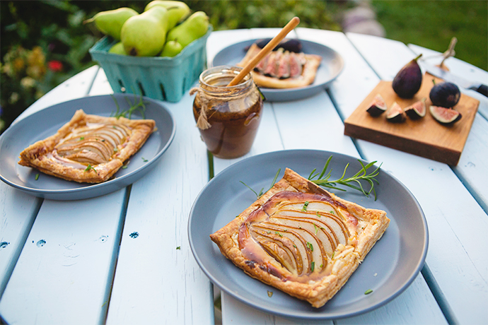 Pear and Fig Tarts with Goat Cheese and Honey recipe | FoodforMyFamily.com