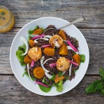 Quinoa Salad with Roasted Beets, Fennel and Fried Goat Cheese recipe | FoodforMyFamily.com