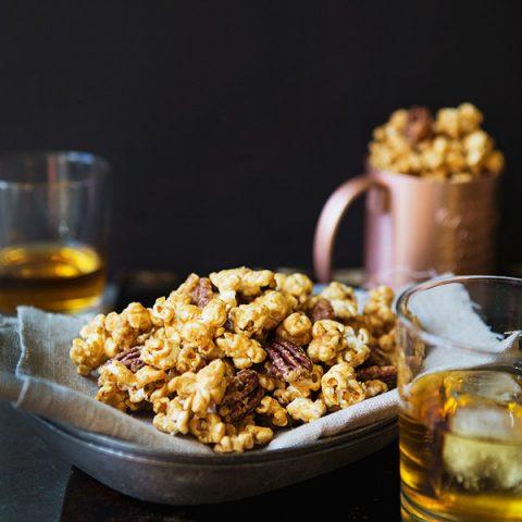 Salted Maple Whiskey Caramel Corn recipe | FoodforMyFamily.com